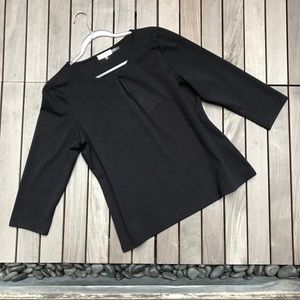 CALVIN KLEIN Black 3 Quarter Sleeve Blouse
